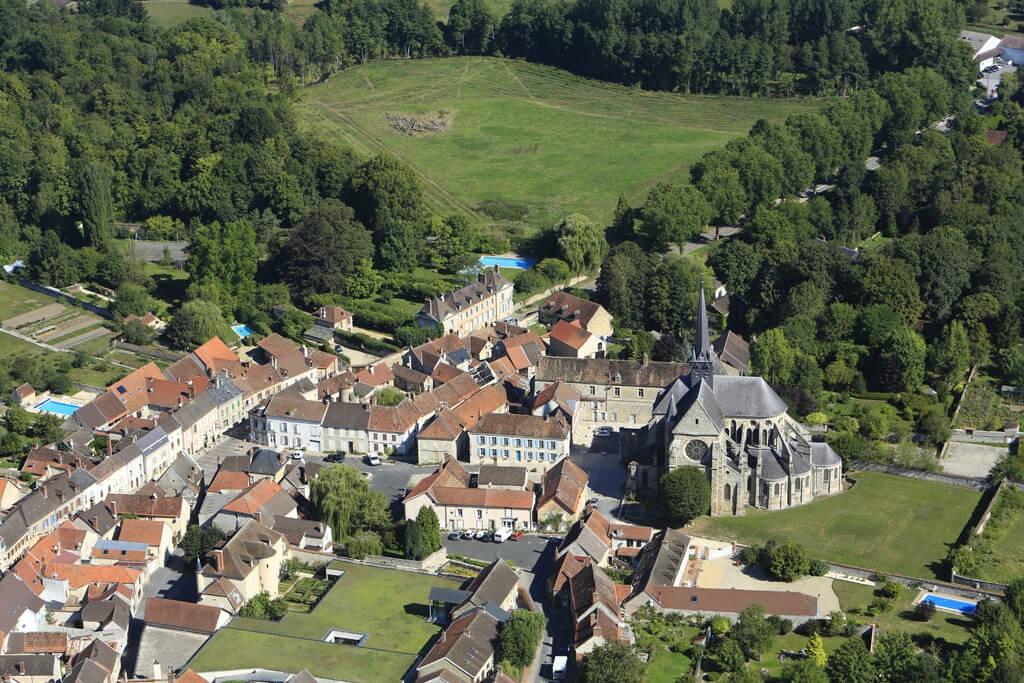 Orbais l'Abbaye vu du ciel