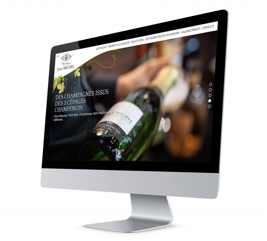 Site Internet champagne Jean Michel