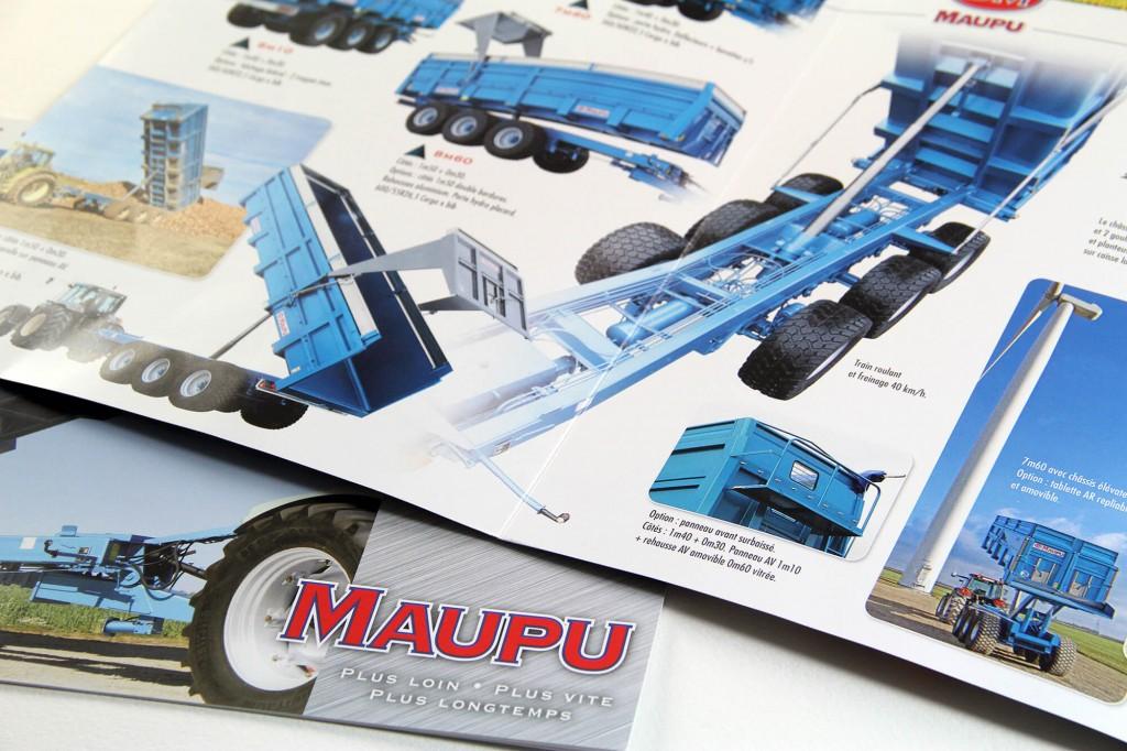 Couverture plaquette commerciale Bennes Maupu